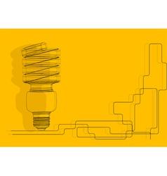 modern light bulb vector image