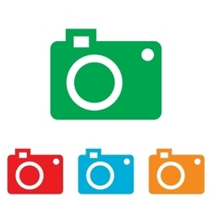 Digital camera icon vector