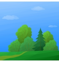 Landscape Summer Forest Low Poly vector image