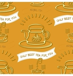 Herbal tea theme seamless pattern vector