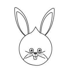 Cute rabbit flat icon vector