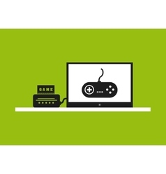 Control and tv icon video game design vector
