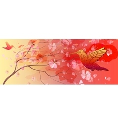 Beautiful floral horizontal background vector image