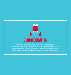 Blood donation day flat background vector