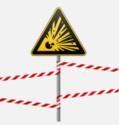 caution - danger warning sign safety explosive vector image vector image
