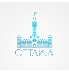 City hall ottawa canada landmark modern vector