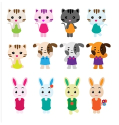 Cute pet set vector image vector image