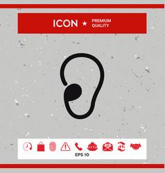 ear icon vector image