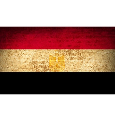 Flags Egypt with dirty paper texture vector image