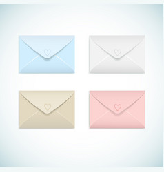 flat envelopes set vector image