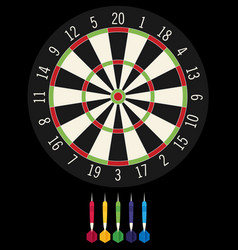 game with darts in flat design style vector image