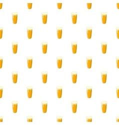 Glass of beer pattern cartoon style vector