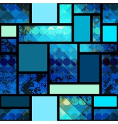 Grunge geometric pattern with circles vector