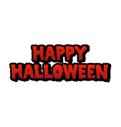 happy halloween blood text vector image vector image