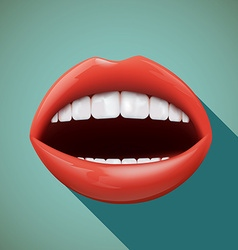 human mouth Stock vector image vector image