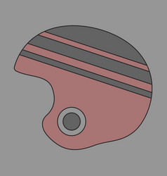 Icon in flat design ski helmet vector