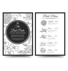 Italian restaurant menu template vector