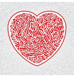 Labyrinth heart seamless vector image vector image