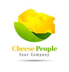 Logo of a cheese volume logo colorful 3d design vector