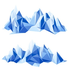 Mountain range in origami style vector image