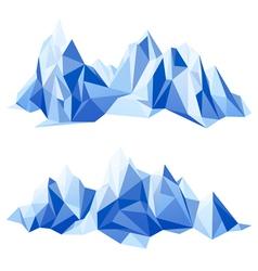 Mountain range in origami style vector