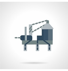 Oil drilling rig flat icon vector