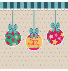 polka dot birthday vector image