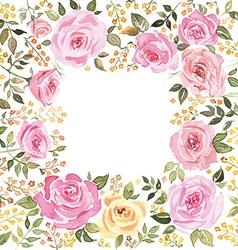 Postcard roses vector