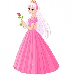 princess with rose vector image