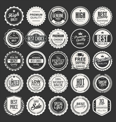Retro vintage badges collection vector