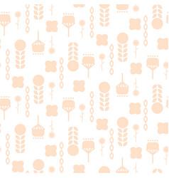 scandinavian folk pale pink floral art pattern vector image