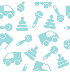 seamless pattern with toys vector image