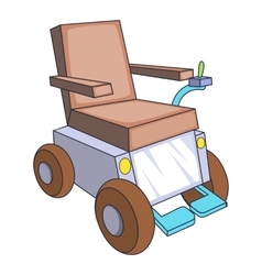 Self-propelled wheelchair icon cartoon style vector