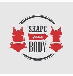 Shape your body vector image