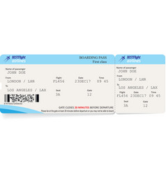 Template of boarding pass tickets vector