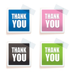 Thank you tag vector image vector image