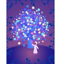 tree of dreams vector image vector image