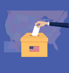 united states usa america election vote concept vector image vector image