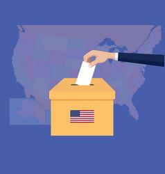 united states usa america election vote concept vector image