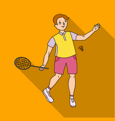 young people involved in badminton the game of vector image vector image