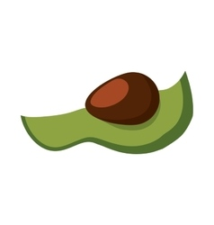 Avocado healthy food organic food market icon vector