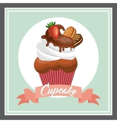 Cupcake pastry design vector