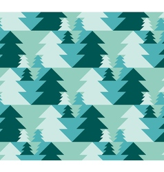 Christmas seamless pattern with trees xmas texture vector