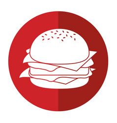 burger fast food shadow vector image