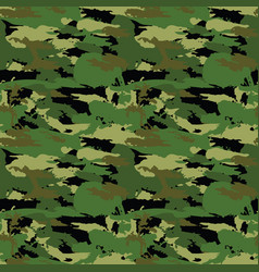 classic seamless military forest camouflage vector image