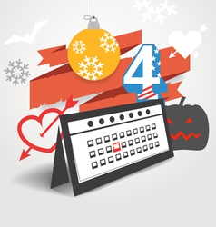 Different holidays of the year vector image