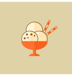 Ice cream food flat icon vector