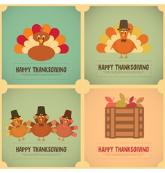 Thanksgiving day retro poster vector