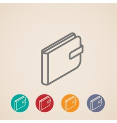 Isometric purse icons vector