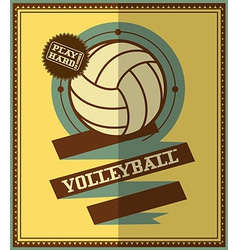 Volleyball icons vector